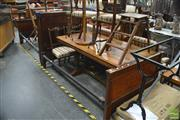 Sale 8390 - Lot 1024 - Pair of 19th Century Mahogany Single Beds, with columns, pilasters & iron rails