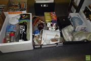 Sale 8530 - Lot 2181 - 3 Boxes Appliances/Lamps/Toys etc.