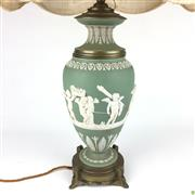 Sale 8562R - Lot 165 - Wedgwood Japerware Table Lamp, loss to one figure (H: 48cm)