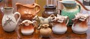 Sale 8649A - Lot 46 - A quantity of ceramics including a Bendigo Pottery Cooksware jug, Austrian deer jug, moon face, etc