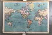 Sale 8761A - Lot 87 - A Rand Mcnally map of the world 69cm x 100