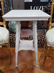 Sale 8904 - Lot 1039 - Shabby Chic Side Table with Bobbin Turn