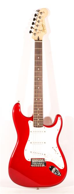 Sale 9136 - Lot 100 - A Fender Squier Strat electric guitar in carry case