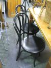 Sale 7974A - Lot 1097 - Set of 4 Black Bentwood Chairs