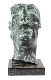 Sale 8040 - Lot 25 - Bronze Patinated Bust of a Man