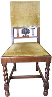 Sale 8258A - Lot 51 - Set of eight dining chairs (6 chairs and 2 carvers) Jacobean style, 1930s, RRP $1950 set