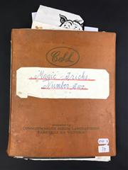 Sale 8539M - Lot 76 - 'Magic Tricks', by Keith Abson. No. 2. Scrapbook with numerous handwritten notes and anecdotes