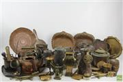 Sale 8551 - Lot 66 - Copper, Brass And Plated Wares Incl Nutcrackers, Mugs, Trays And Door Knockers