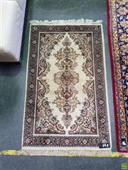Sale 8566 - Lot 1377A - Beige Tone Silk Blend Carpet (165 x 96cm)