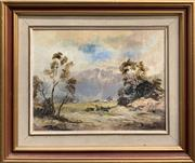 Sale 8686 - Lot 2030 - John Lindsay-Sever - Valley Farm, oil on board, 42 x 51cm (frame size), signed lower right