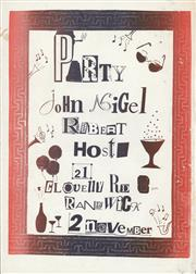 Sale 8766A - Lot 5066 - Party with John, Nigel and Robert - colour screenprint