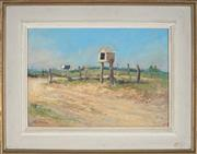 Sale 8927 - Lot 2013 - John Forsyth Baird (19*02 - 1988) At Farm Gate, Mudgee, 1950s oil on board, 26x38cm, signed -