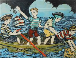Sale 8961A - Lot 5036 - David Bromley (1960 - ) - Maiden Voyage 72 x 90 cm (frame: 88 x 106 x 3 cm)