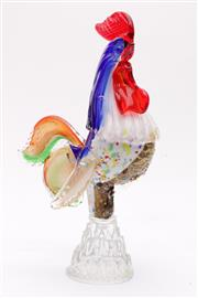 Sale 9035 - Lot 18 - Art Glass Rooster H;27cm
