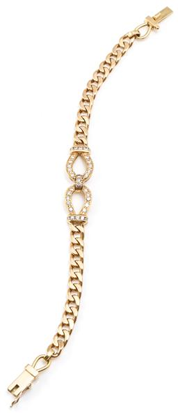 Sale 9128J - Lot 40 - AN 18CT GOLD DIAMOND BRACELET; 5.5mm wide curb link chain to centrepiece set with 33 round brilliant cut diamonds (11 x 33mm) to box...