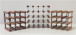 Sale 9188 - Lot 1466 - Pair of timber wine racks & another (h:47cm)