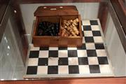 Sale 7998 - Lot 96 - Chess and Draught Pieces in Box plus Board