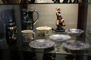 Sale 8189 - Lot 132 - Overlaid Green Glass Drink Wares with Ceramics incl. Bunnykins