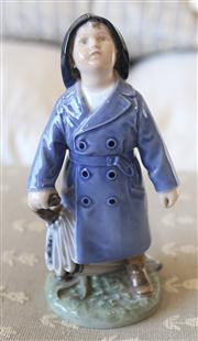 Sale 8250 - Lot 31 - A Royal Copenhagen Figure  modelled as a small boy in his dressing gown