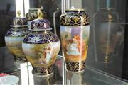 Sale 8296 - Lot 10 - Royal Vienna Set of Two Vases
