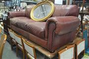 Sale 8326 - Lot 1476 - Brown Leather Three Seater Lounge