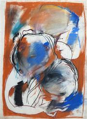 Sale 8410A - Lot 5052 - Anne Hall (1945 - ) - Untitled (Abstract Figural Composition) 76.5 x 56cm (sheet size)
