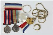 Sale 8419 - Lot 5 - Australian Miniature War Medals with Various Ladies Jewellery