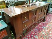 Sale 8462 - Lot 1039 - Timber Oriental Sideboard with Six Drawers