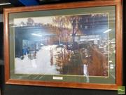 Sale 8495 - Lot 2074 - After Sydney Long - By Tranquil Waters framed