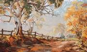 Sale 8558 - Lot 503 - Otto Kuster (1941 - ) - Autumn Morning, Near Tumut, 1972 - 1973 59.5 x 101cm