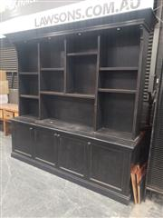 Sale 8956 - Lot 1010A - Oversized Timber Two Piece Bookcase (H:240 x W:248 x D:53cm)