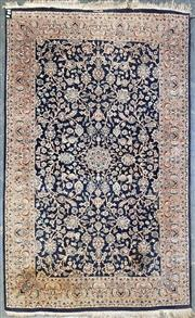 Sale 9031 - Lot 1070A - Antique Persian Hand Made Blue Tone Carpet - Signed (251 x 154cm)