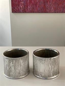 Sale 9248H - Lot 315 - A pair of small silver plated vases