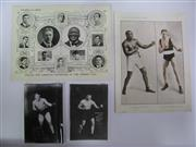 Sale 8125 - Lot 35 - Jack Johnson - two supplements to Boxing c.1910, both showing New World Champion Jack Johnson; together with re-print portraits of T...