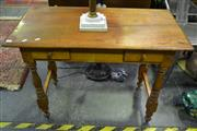 Sale 8099 - Lot 821 - Rustic 2 Drawer Hall Table