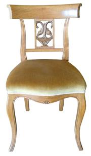 Sale 8258A - Lot 53 - Ten Regency style maple dining chairs circa 1930s with carved dolphin splats, RRP $350 each