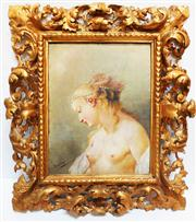 Sale 8272A - Lot 21 - Continental School - Nude Panel size: 40 x 30 cm -- Frame 64 x 55 cm