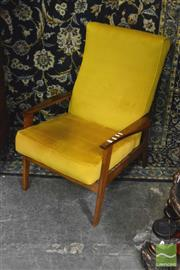 Sale 8338 - Lot 1341 - 1970s Pair of Lounge Chairs with Gold Fabric