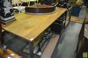 Sale 8380 - Lot 1056 - Industrial Tiered Timber & Metal Works Bench
