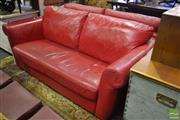 Sale 8532 - Lot 1342 - Pair of Red Leather Lounges