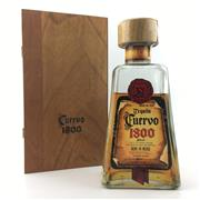 Sale 8588 - Lot 969 - 1x Cuervo '1800' Tequila - old bottling, some evaporative losses, seal intact, in timber box