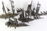 Sale 8778 - Lot 316 - Set Of Four Timber Boats