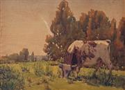 Sale 8849A - Lot 5011 - Rah Fizelle (1891 - 1964) - Carlingford (The Bull) c1920 30.5 x 42cm