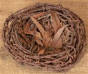 Sale 8984H - Lot 385 - An impressive birds nest made from barbed wire.