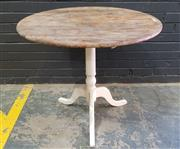 Sale 9009 - Lot 1093 - Rustic Round Timber Table On Pedestal Base (H77 x D86cm)