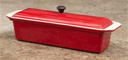 Sale 9160H - Lot 150 - A French made red ironware lidded casserole dish, Width 36cm