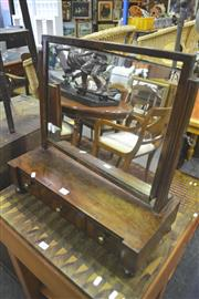 Sale 8093 - Lot 1716 - Late Georgian Mahogany Toilet Mirror With Three Drawers A/F (key in office)
