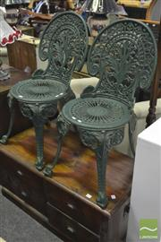 Sale 8312 - Lot 1096 - Pair of Cast Iron Outdoor Chairs