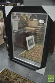 Sale 8323 - Lot 1074 - Large Black/Silver Framed Mirror, 110 x 150cm
