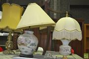 Sale 8331 - Lot 1583 - Collection Of Various Lamps Incl Brass Pierced Examples